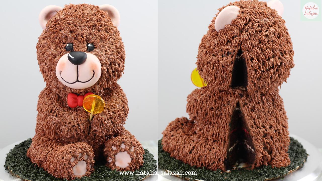 tallado de torta de oso